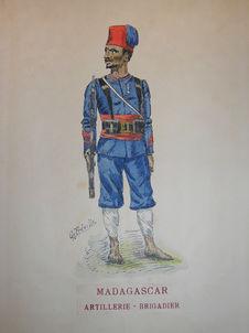 Madagascar - Artillerie - Brigadier