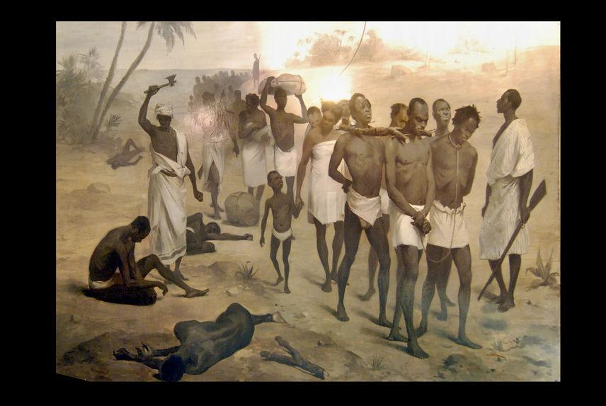 Convoi d'esclaves en Afrique