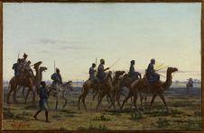 Guerriers du Trarza longeant le fleuve Sénégal