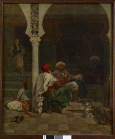 Tailleurs devant la mosquée