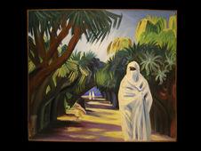 Mauresque à la promenade au jardin d'essai à Alger