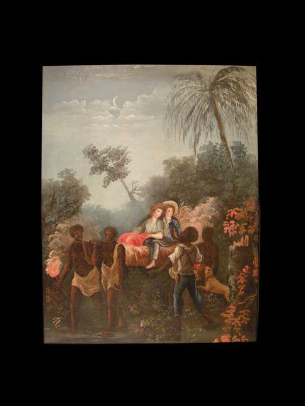 Paul et Virginie portés par les esclaves