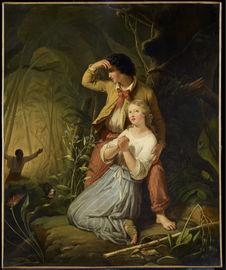 Paul et Virginie dans la forêt