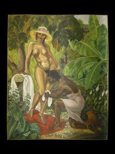 Femme malgache à sa toilette