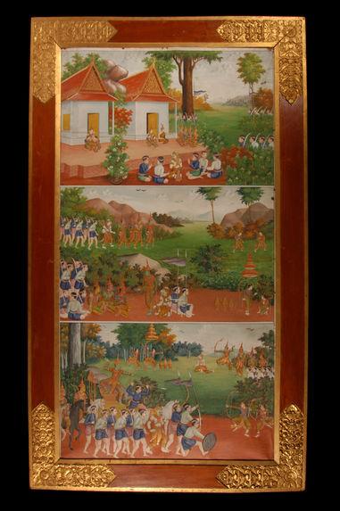 Trois scènes du Ramayana