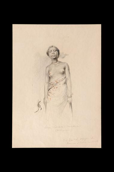 Femme sakalava de Morondava, Madagascar