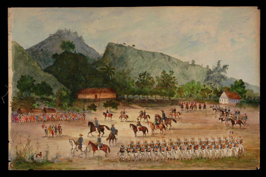 Promenade militaire autour de Papeete, 1861. Papenoo