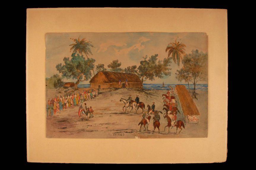 Promenade militaire autour de Papeete, 1861. Vairao