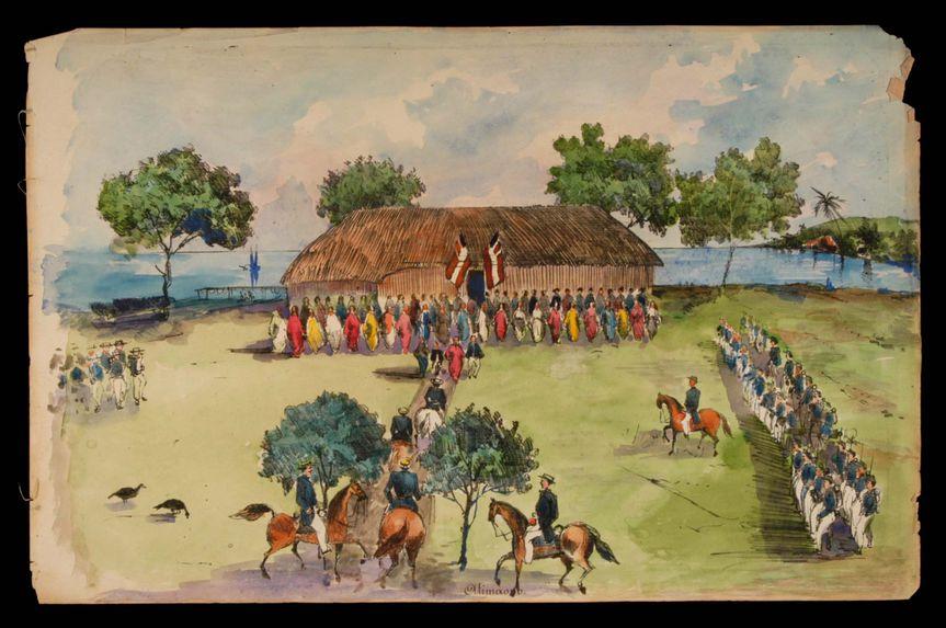 Promenade militaire autour de Papeete, 1861. Atimaono