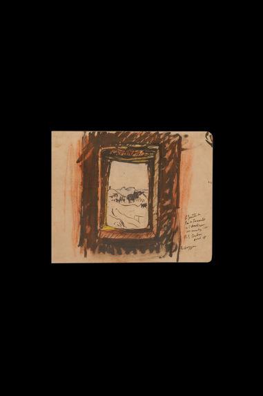 La fenêtre du père de Foucauld à l'Assekrem : son ermitage d'été - le Hoggar