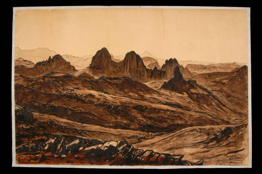 Panorama de la Koudia au Hoggar