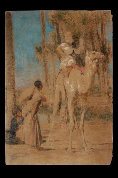 Sans titre [Femmes algériennes et chamelier]