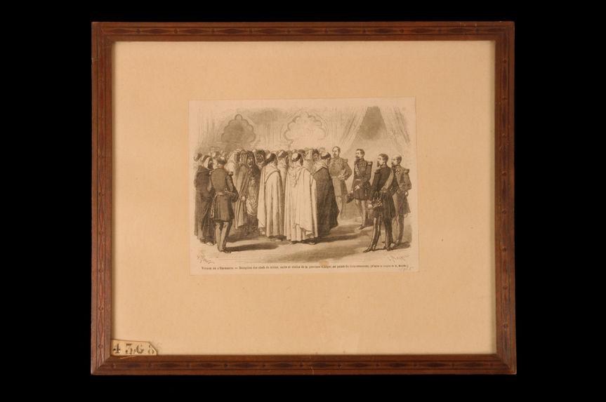 Voyage de l'Empereur. Réception des chefs de tribus, caïds et cheiks de la province d'Alger au palais du Gouvernement
