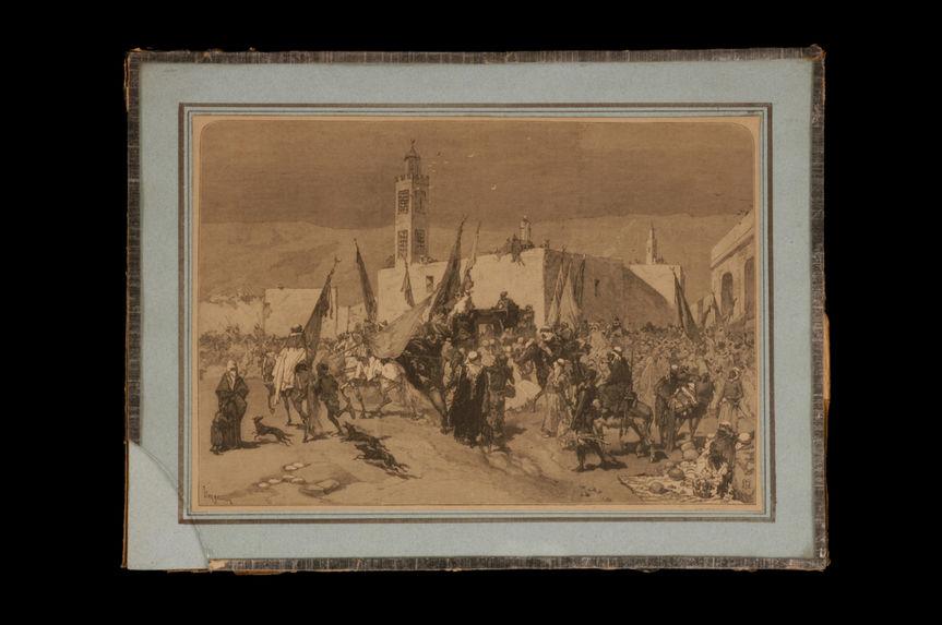 Sans titre [Entrée à Tlemcen du chérif Sidi-El-Hadj-Abdesselam]