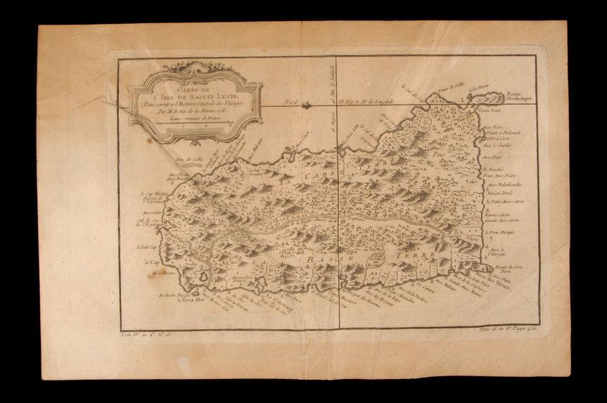 Carte de l'Isle de Sainte Lucie