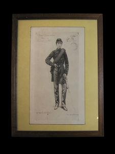Sous lieutenant d'infanterie de Marine, 2ème Armée de la Loire - 1870