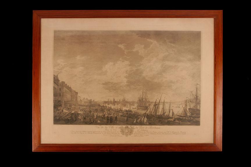 Vue de la ville et du port de Bordeaux