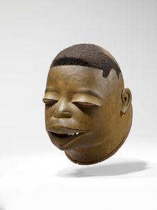 Masque heaume anthropomorphe