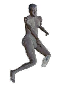 Sculpture anthropomorphe : lutteur ?