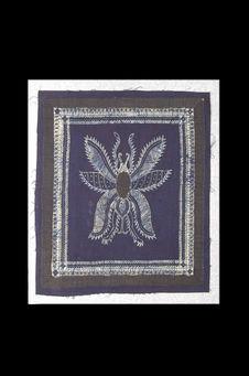 Etape de la réalisation d'un tissu en batik