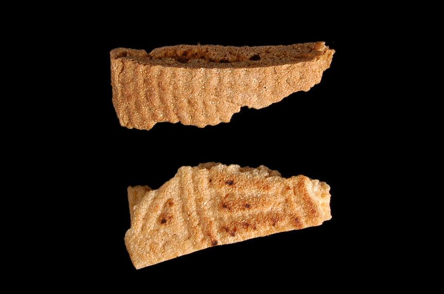 Echantillon de pain cuit