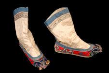Costume de jeune femme : chaussettes