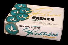 Boîte contenant une brique de thé