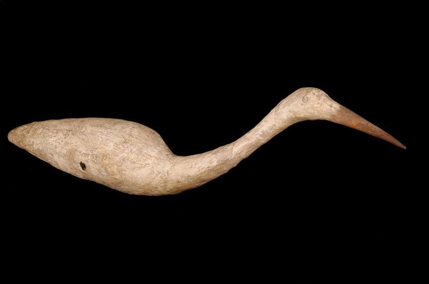 Appât en forme d'oiseau pour piège à échassier