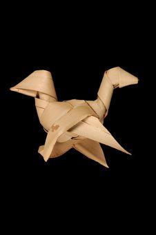 Oiseau en feuille de paillotte