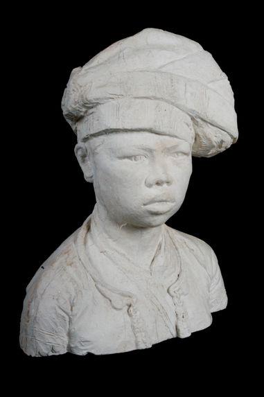 Femme indochinoise au turban