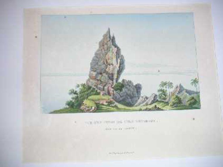Vue d'un piton de l'île Borabora