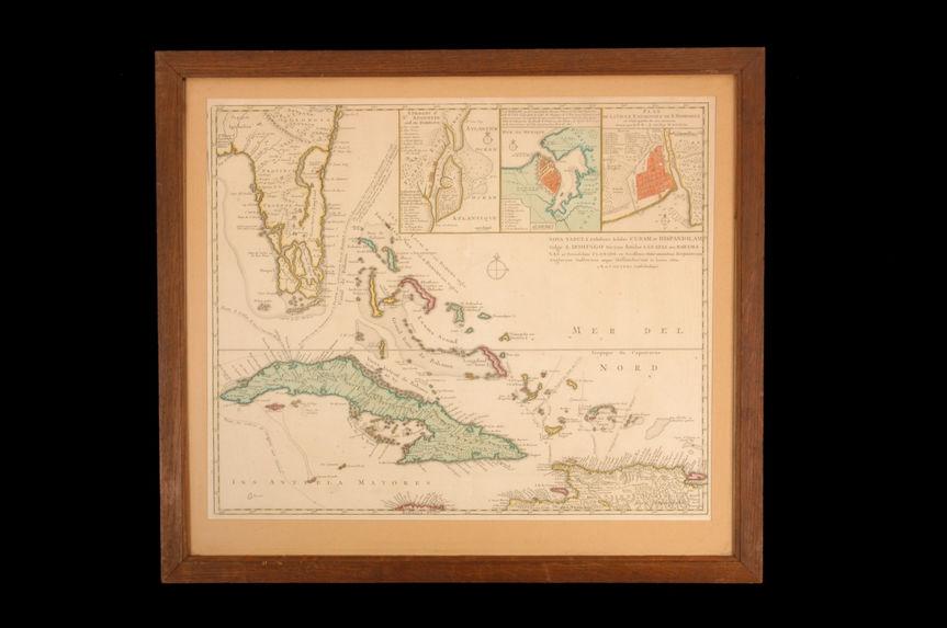Nova Tabula Exhibens Insulas Cubam et Hispaniolam