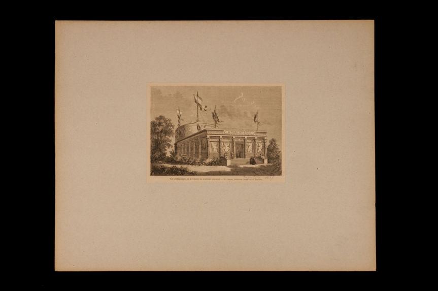 Vue extérieure du pavillon de l'isthme de Suez