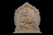 Panneau en bas-relief: Durga