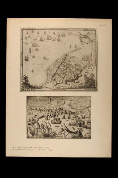 Attaque de Tripoli par le maréchal d'Estrées (1685) - Bombardement d'Alger par le maréchal d'Estrées (1688)