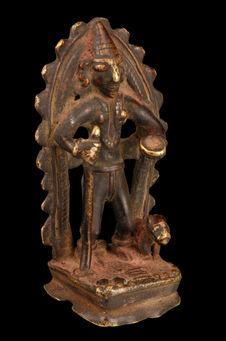 Statuette de shiva ascète mendiant (Bhikshatana) ou de saint shivaïte (?)