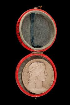 Médaille dans un écrin