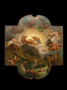 Le triomphe d'Apollon d'après Delacroix