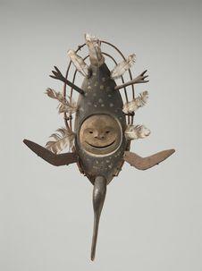 """Masque cérémoniel """"kegginaquq"""": huitrier"""