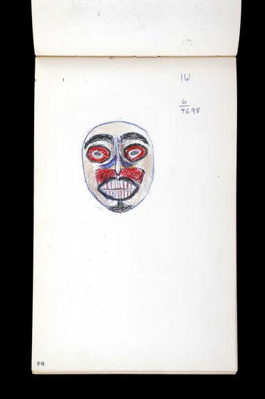 Carnet de dessins de masques yup'ik