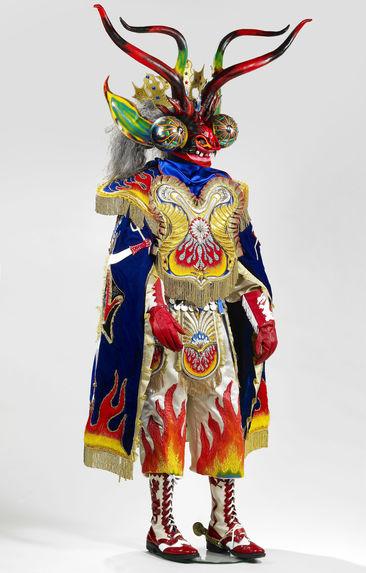 Costume de Ñaupa Diablo : masque-heaume
