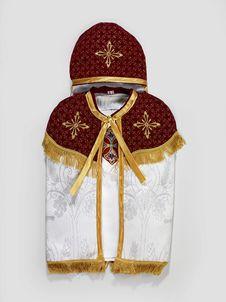 Costume de baptême : tunique, cape et coiffe