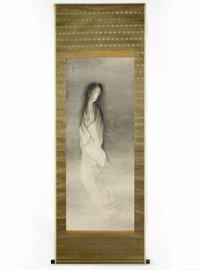 Peinture de fantôme, signée Kaitu Unrin (1845-1919)