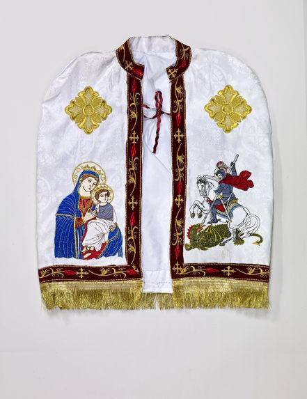 Costume de baptême: tunique, cape, coiffe