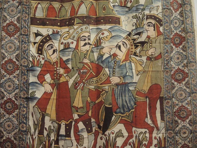 Tenture illustrant l'histoire de Bahrâm Gur et Fitnah