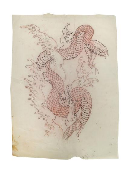 Dessin préparatoire pour tatouage