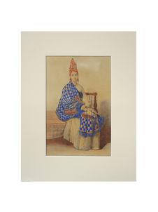 Portrait d'Anna d'Egrigny, signare de Gorée (Sénégal)