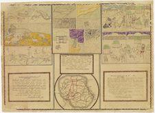 Trois contes avec plan de la ville de Foumban et légendes manuscrites
