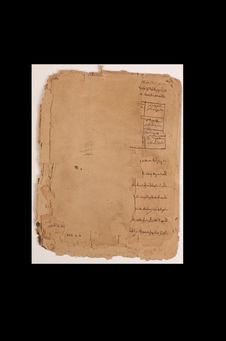 Feuillets manuscrits