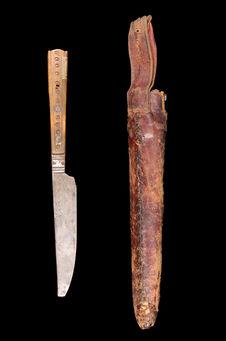 Couteau rasoir et sa gaine